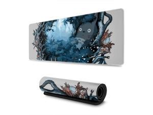 """Extra Large Mouse Pad -Forest Spirits My Neighbor Totoro Studio Ghibli Desk Mousepad - 31.5"""""""""""""""" X 11.8""""""""""""""""x0.12''(3mm Thick)- XL Protective Keyboard Desk Mouse Mat for Computer/Laptop"""