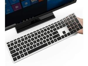 Keyboard Cover for HP Pavilion 27 All in One PC, HP Pavilion 27-Xa0055Ng/0370Nd/0076Hk/0010Na, HP Pavilion 24-inch All in One PC, 24 Xa0002A/0300Nd/0051Hk, HP Pavilion All in One Accessories, Black