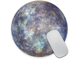 Amcove Mercury Mouse pad Planet Mousepad Space Mousepad Blue Mousepad Stone Round Mouse pad Office Supplies Friends Gift Mouse mat