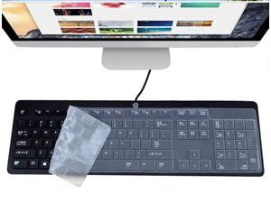 Ultra Thin Silicone Keyboard Cover for HP EliteOne 800 G4 All-in-One Keyboard Skin Cover Protector, HP EliteOne 800 G4 All-in-One Accessories, Clear (US Layout)