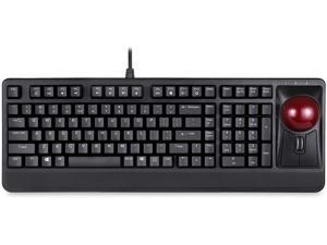 Perixx Periboard-522 Wired Trackball Mechanical Keyboard, Build-in 2.17 Inch Trackball with Pointing and Scrolling Feature, US English Layout