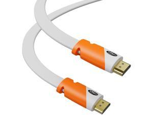 Flat HDMI Cable 20 ft - High Speed HDMI Cord - Supports, 4K Video at 60 Hz, 3D, 2160p - HDMI Latest Standard - CL3 Rated - 20 Feet