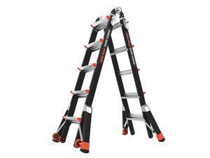 LITTLE GIANT 15145-801 Multipurpose Ladder,Dark Horse,22 ft.
