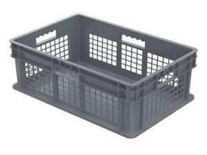 AKRO-MILS 37678GREY Gray Straight Wall Container 23 3/4 in x 15 3/4 in x 8 1/4