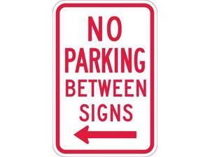 """LYLE T1-1050-HI_12x18 No Parking Sign, 12"""" W, 18"""" H, English, Aluminum, White"""