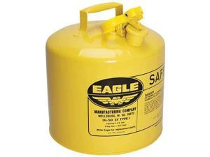 EAGLE UI50SY 5 gal. Yellow Galvanized Steel Type I Safety Can, For Diesel