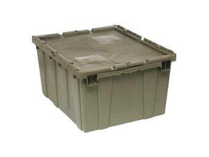 QUANTUM STORAGE SYSTEMS QDC2820-15 Attached Lid Container, 4.00 cu. ft., Gray