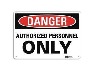 LYLE U1-1042-RA_14X10 Danger Sign,14x10 In.,English