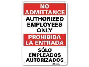 LYLE U1-1041-RA_10X14 Safety Sign,14x10 In.,Bilingual