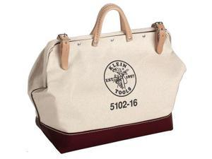 KLEIN TOOLS 5102-22 Wide-Mouth Tool Bag, Heavy-Duty #8 Natural Canvas, 1 Pockets