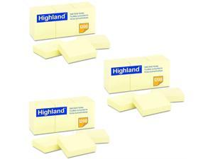 Highland 6539YW Self-Stick Notes, 1 1/2 x 2, Yellow, 100-Sheet (Pack of 36)