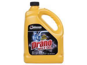 Drano Max Gel Clog Remover Bleach Scent 128 oz Bottle 4/Carton 696642
