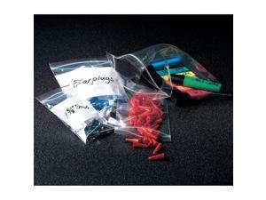 "MINIGRIP RED LINE MGRL2P0608 Reclosable Poly Bag Zipper Seal 8"" x 6"", 2 mil,"