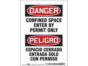"CONDOR 465K67 Safety Sign,7"" H,5"" W,Vinyl"