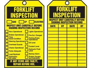 ACCUFORM TAR722 Tags By-The-Roll,Forklift Inspect,6-1/4x3in,Cardstock,250/RL
