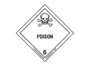 LABELMASTER HML8 Poison Label,100mmx100mm,Paper,500 lbls