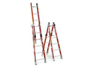 WERNER 7806 Combination Ladder, 6 ft. , IAA, Fiberglass