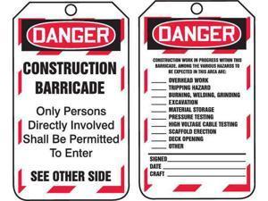 ACCUFORM TAB102PTP Danger Tag,5-3/4 x 3-1/4,PK25
