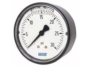 "WIKA 113.13.15.160.B Pressure Gauge ,1-1/2"" Dial Size,Back"