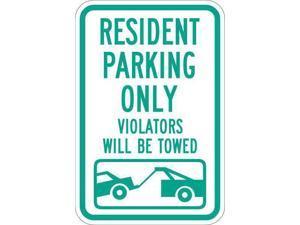 "LYLE T1-1034-HI_12x18 Resident Parking Sign, 12"" W, 18"" H, English, Aluminum,"