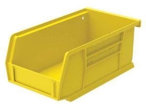 "AKRO-MILS 30220YELLO Yellow Hang and Stack Bin, 7-3/8""L x 4-1/8""W x 3""H"