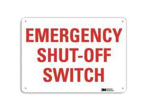 "LYLE U7-1143-NA_14x10 Shut-Off Sign,14""W,10""H,0.040"" Thickness"