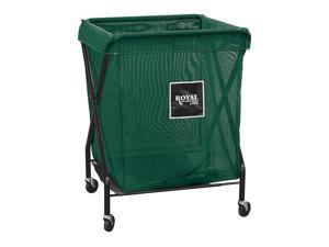 ROYAL BASKET TRUCK G08-WWX-XMA-3ONN X-Frame Cart,8 Bu,White Mesh