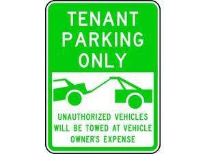 LYLE RP-125-18HA Resident & Tennant Parking Sign, 18 in W, 24 in H, English,