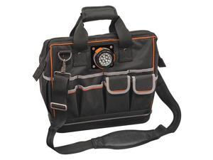 KLEIN TOOLS 55431 Wide-Mouth Tool Bag, 1680D Ballistic Weave, 31 Pockets,