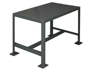 "Durham MFG MT182442-2K195 Fixed Work Table,Steel,24"" W,18"" D"