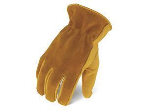 IRONCLAD IEX-WHO-03-M Leather Palm Gloves,Tan,Size M,PR