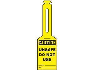 ACCUFORM TAL314 Loop n Strap Caution Tag,5.25x3.25,PK25