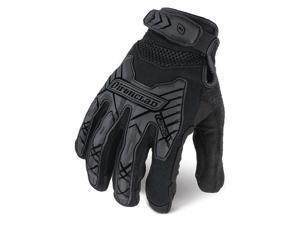 """IRONCLAD IEXT-IBLK-08-XXXXL Tactical Glove,Size 4XL,9"""" L,Black,PR"""