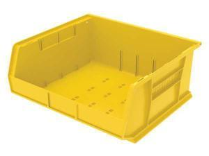 "AKRO-MILS 30250YELLO Yellow Hang and Stack Bin, 14-3/4""L x 16-1/2""W x 7""H"