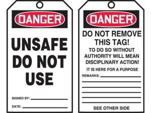 ACCUFORM TAR120 Danger Tag By The Roll,6-1/4 x 3,PK100