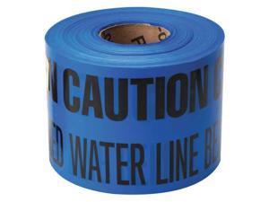 BRADY 91298 Underground Tape,Blue/Black,1000ft x 6In