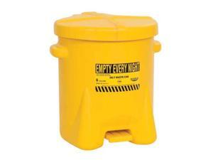 EAGLE 933FLY Oily Waste Can,6 Gal.,Poly,Yellow
