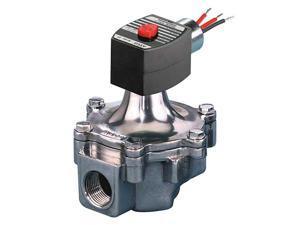 """ASCO EF8215B060 1-1/4"""" NPT 2-Way Air & Fuel Gas Solenoid Valve 120VAC 1-5/8"""""""