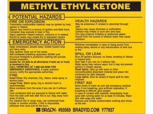BRADY 93569 Chemical Label,3-3/4inHx4-1/2inW,PK25