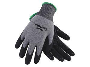 CONDOR 3BA55 Coated Gloves,M,Gray//White,PR