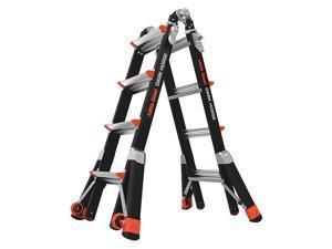 LITTLE GIANT 15147-001 Multipurpose Ladder,17 ft.,IA,Fiberglass