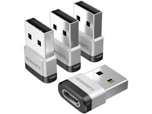 USB C to USB Male Adapter (4 Pack) Acessorz USB C Female (Type-C) to USB A Male (Type-A) Fast Charging Sync Connector OTG Adapter for Laptop/Wall Car Charger - Compatible with Magsafe Charger