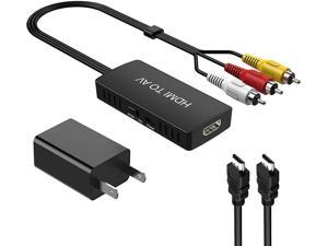 DIGITNOW HDMI to RCA Converter, HDMI to AV Composite Video Audio Converter Adapter, Supports PAL/NTSC for PS One, PS2, PS3,STB, VHS, VCR, Blue-Ray DVD Players Projector