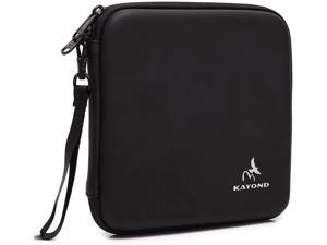 KAYOND Portable Hard Carrying Travel Storage Case for External USB, DVD, CD, Blu-ray Rewriter/Writer and Optical Drives (Black)
