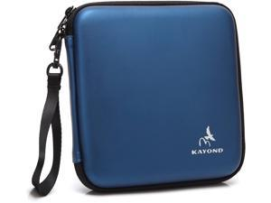 KAYOND Portable Hard Carrying Travel Storage Case for External USB, DVD, CD, Blu-ray Rewriter / Writer and Optical Drives (Blue)