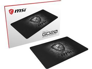 MSI Gaming Ultra-Smooth Low-Friction Textile Surface Non-Slip Natural Rubber Base 5mm Thick Gaming Mouse Pad (Agility Gd20)