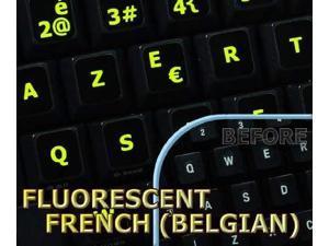HUNGARIAN ENGLISH KEYBOARD STICKERS NETBOOK ON BLACK BACKGROUND