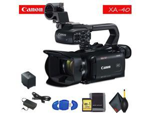 Canon XA40 Professional UHD 4K Camcorder Standard Accessory Bundle