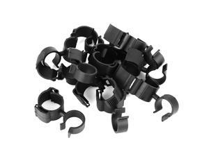10pcs Car Plastic Fasteners Oil Pipe Clip Retainer Double Hole Holder Clamp Black 62x36mm for Volkswagen Golf 6