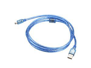 Micro USB Cable Charger USB to Micro USB Male Cable 140cm Length Blue 2pcs